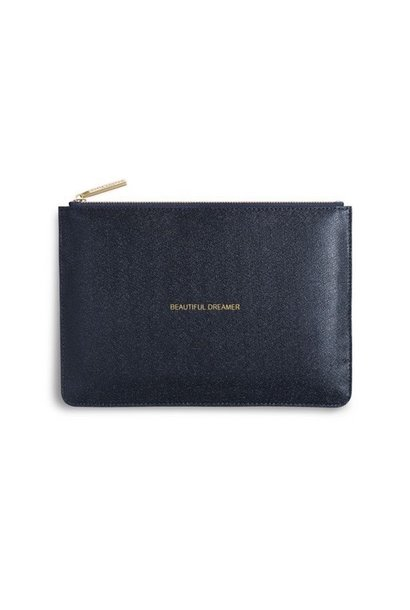 beautiful dreamer navy shimmer pouch