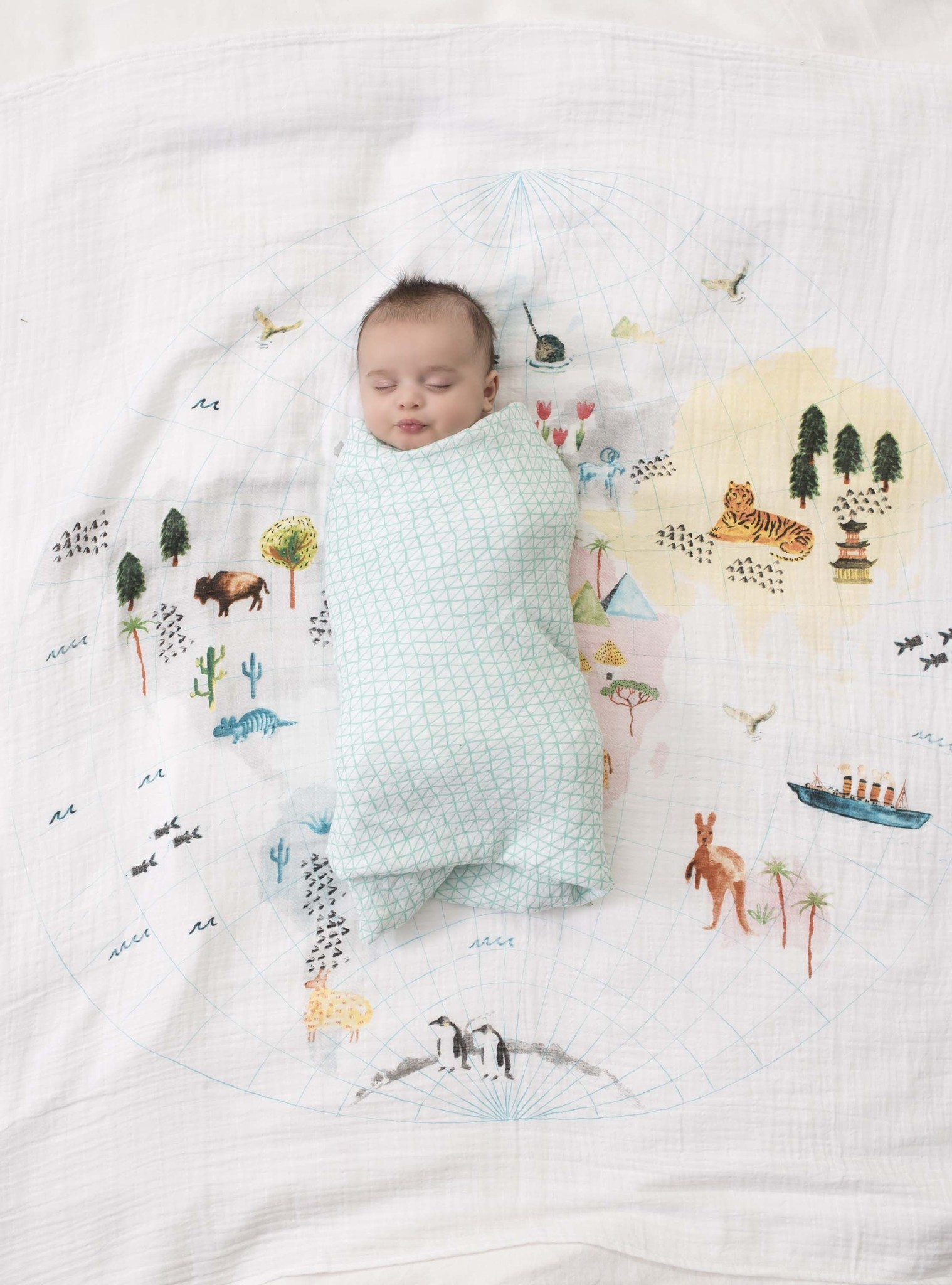 around the world swaddle blanket-2