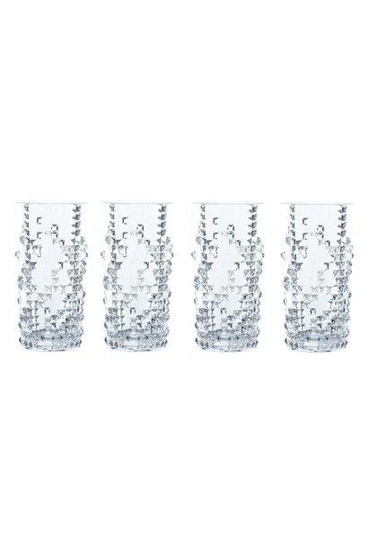 RI2 longdrink punk glasses clear s/4