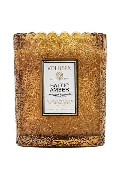 baltic amber scalloped candle pot