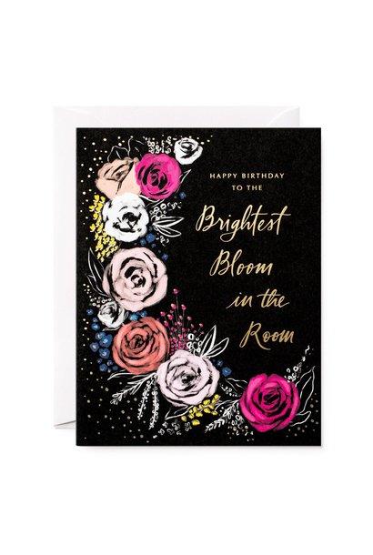 brightest bloom birthday card