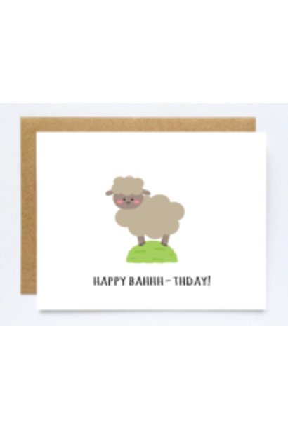 happy bahhh day card