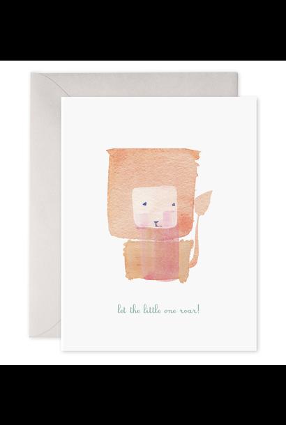 let the little one roar! baby card