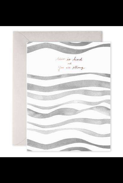 grey waves encourage card