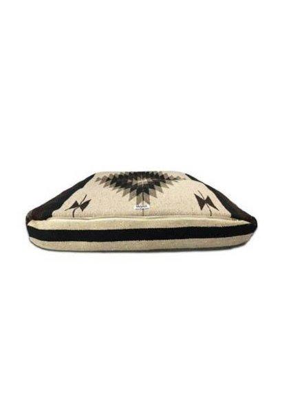 diamante rectangulo black/brown/gray dog bed M