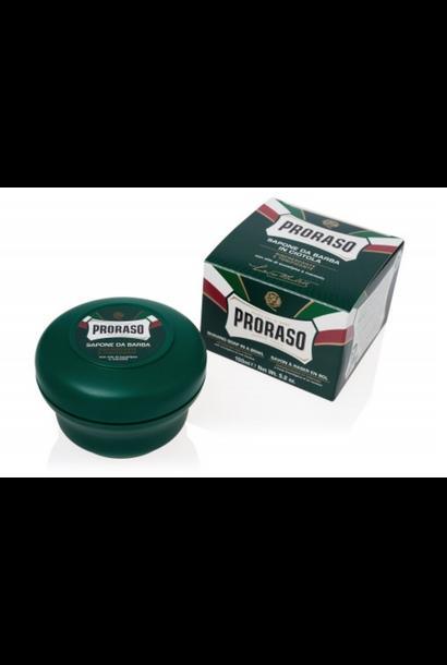 shave soap jar green
