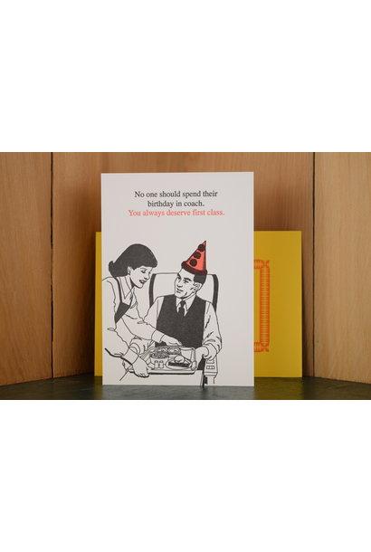 first class birthday card