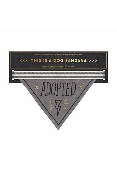 adopted dog bandana