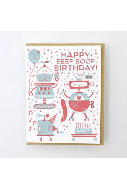 beep boop birthday card