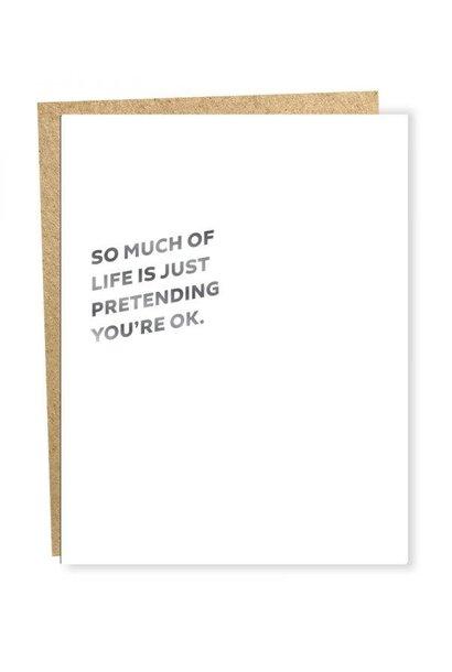 pretending card