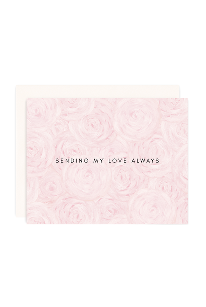 love + peonies card