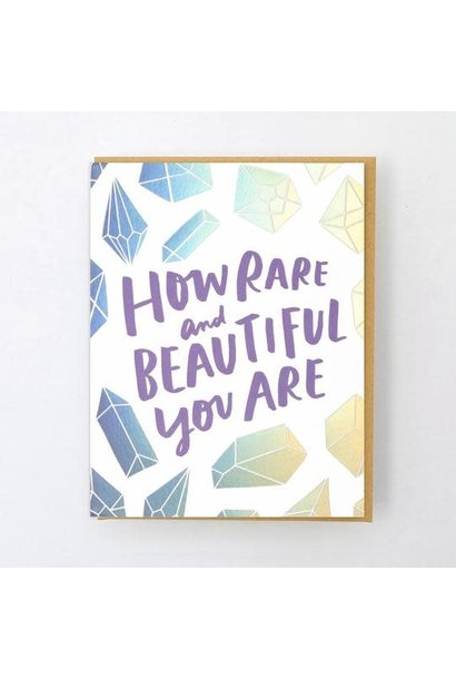 rare and beautiful card