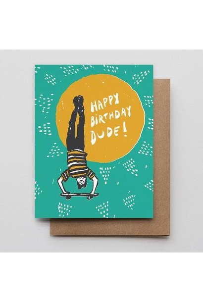 skater dude birthday card