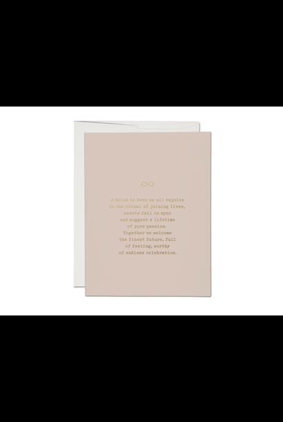 joining lives foil wedding card