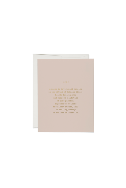 RC1 joining lives foil wedding card