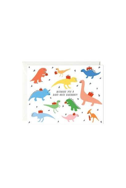 colorful dinos card