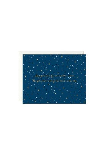 stars in the sky wedding card