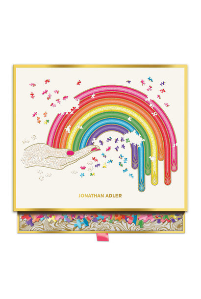 rainbow hand shaped foil 750pc puzzles