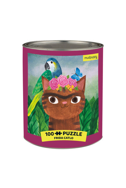 artsy cats frida catlo 100 pc puzzle
