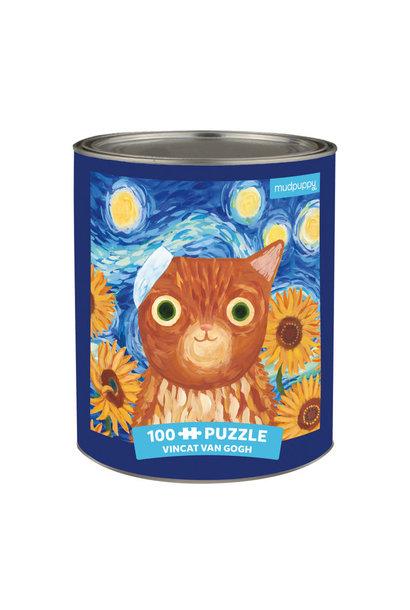 artsy cats vincat van gogh 100pc puzzle