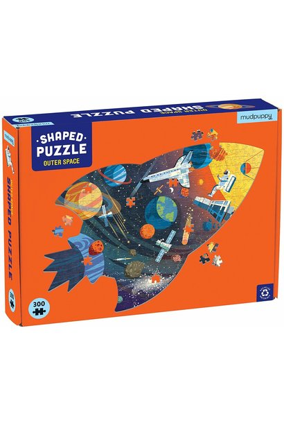 outer space shaped 300pc puzzle