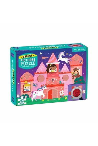 secret picture unicorn castle 42pc puzzle