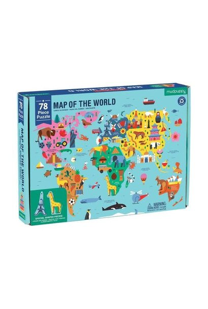 geography map of the world 78pc puzzle