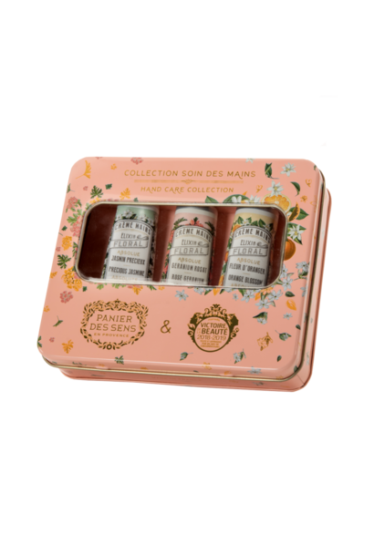 absolutes tin box 3 hand creams (jasmine, orange blossom, rose geranium)