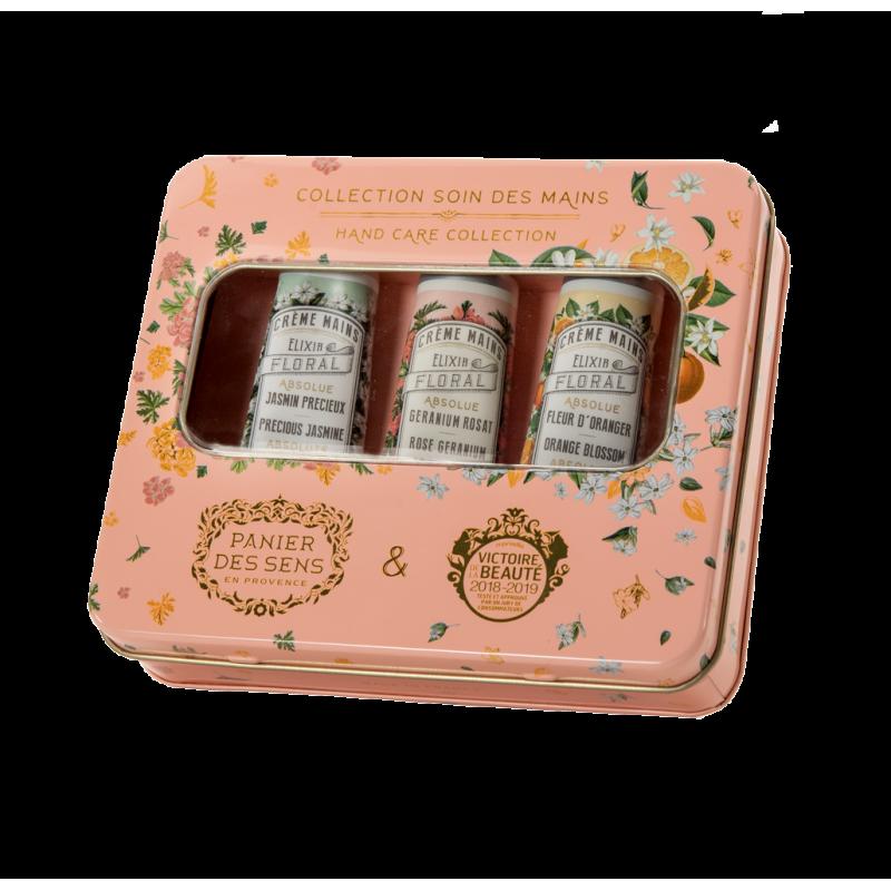 absolutes tin box 3 hand creams (jasmine, orange blossom, rose geranium)-1