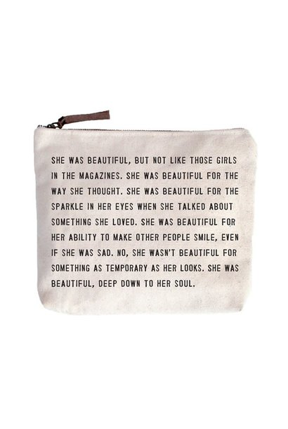 she was beautiful canvas bag