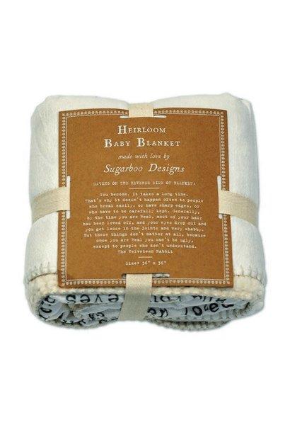 baby blanket velveteen rabbit