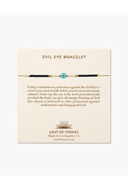 evil eye bracelet turq/white