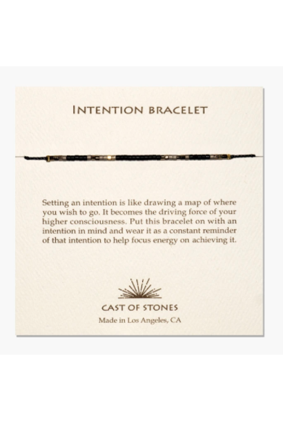 intention bracelet gold/black