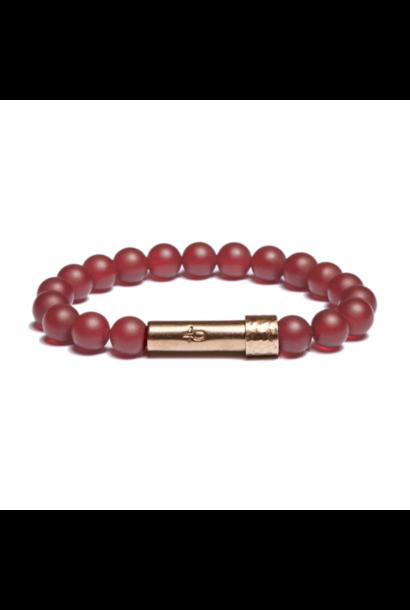 matte carnelian shine wishbeads bracelet