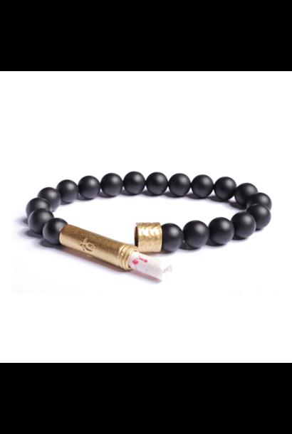matte black onyx shine wishbeads bracelet