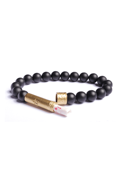 matte black onyx men bracelet
