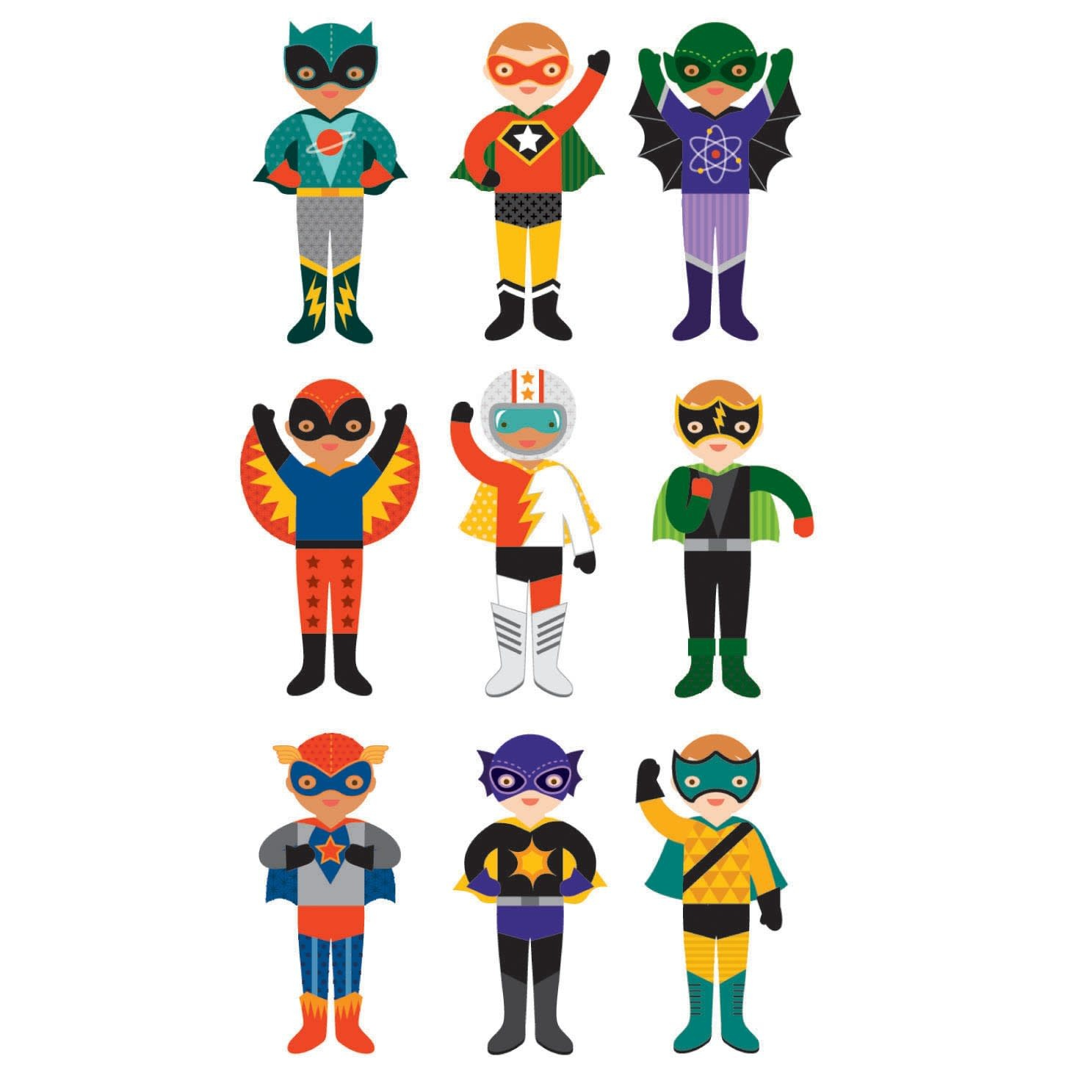 Superheroes magnetic dress up-2