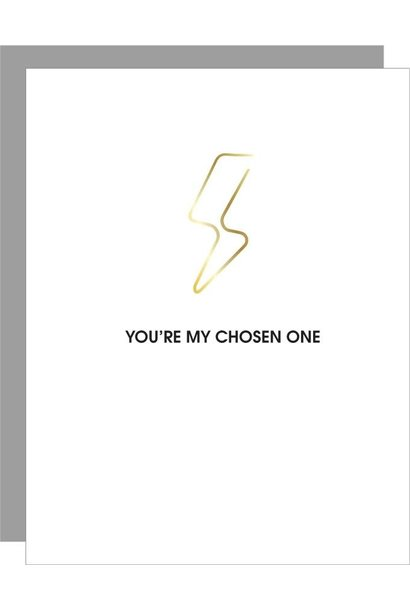 chosen one-lightning bolt paperclip card