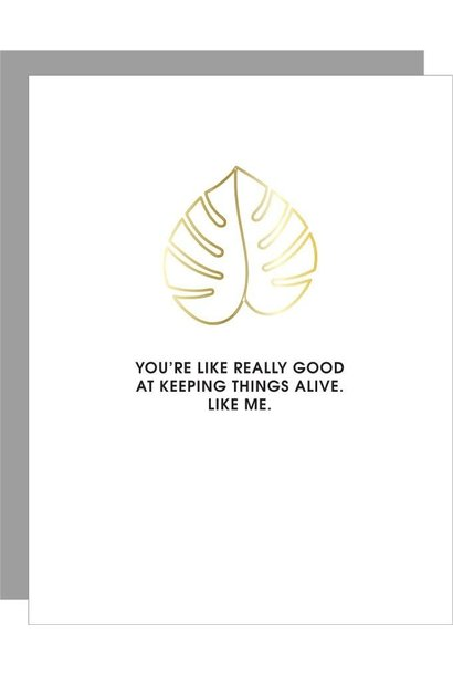 keeping things alive-monstera paperclip card
