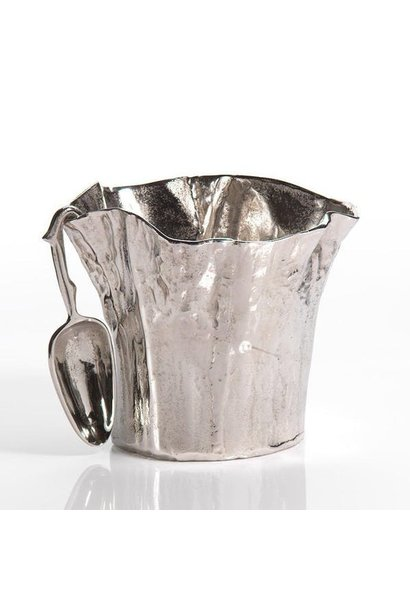 artisan aluminum ice bucket w scoop