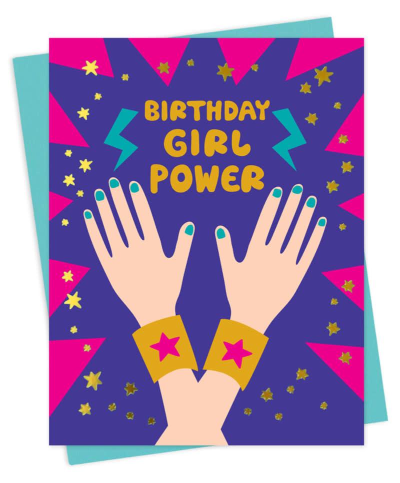 Girl Power Birthday card-1