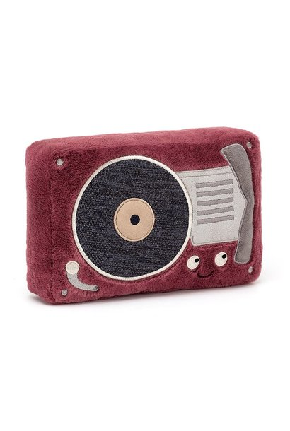 wiggedy record player stuffed animal