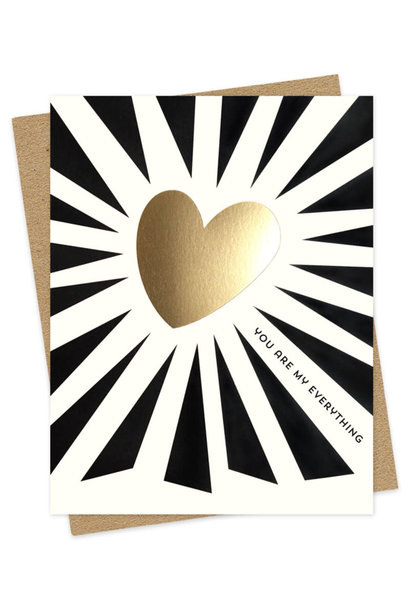 everything heart b/w card