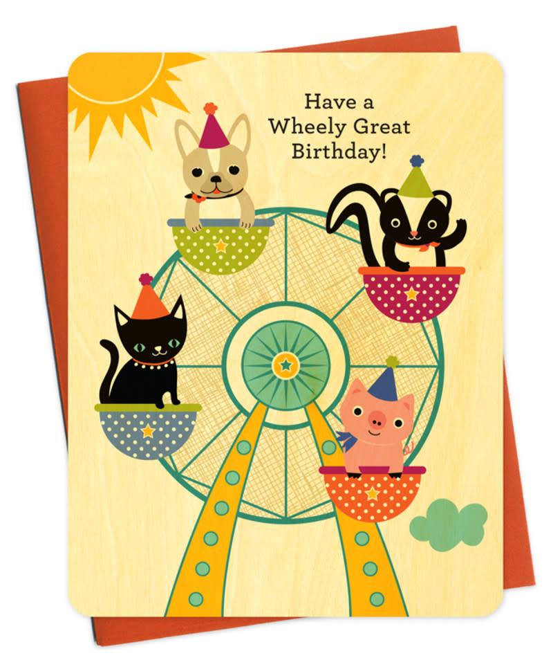 Ferris Wheel Wood Birthday card-1