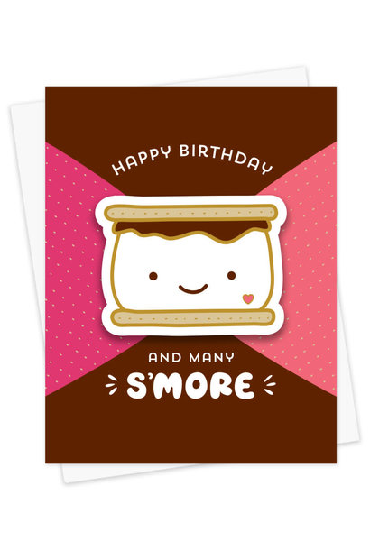 s'more birthday card