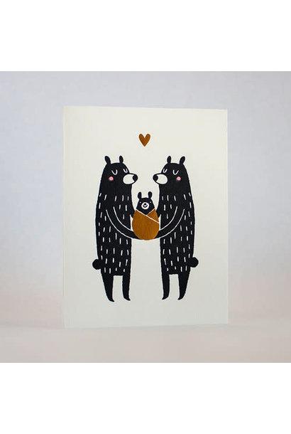 Baby Black Bear card