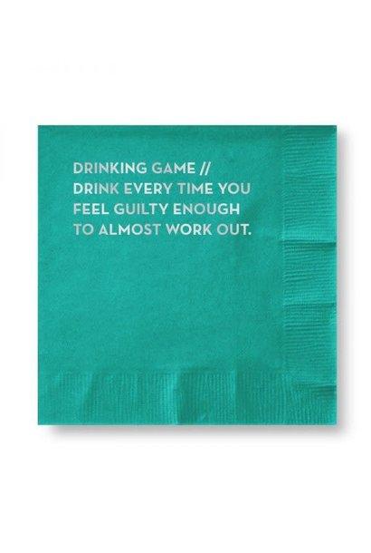 drinking game napkins