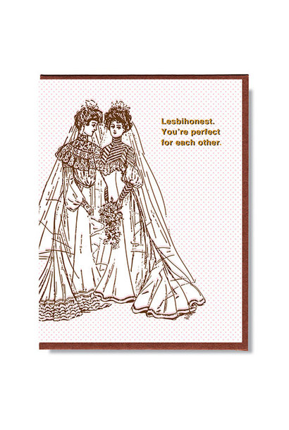 Lesbihonest Wedding card