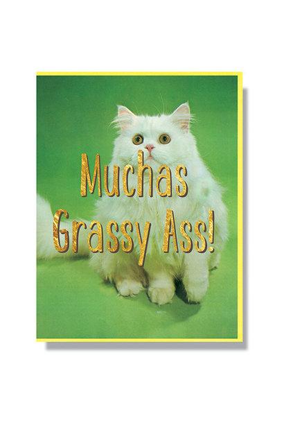muchas grassy ass card