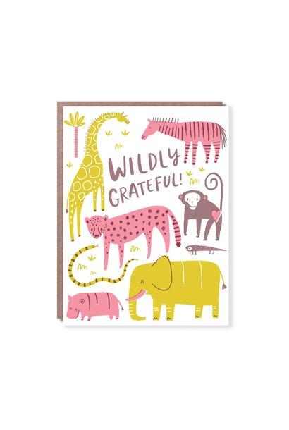 wildly grateful thanks card